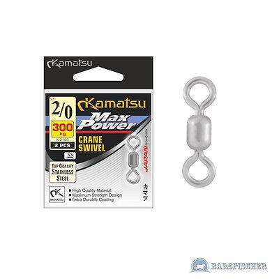 KAMATSU K-2199 BLN MAX POWER CRANE SWIVEL STAINLESS STEEL BIG GAME POWER WIRBEL