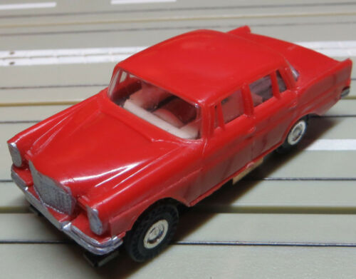 1 of 1 - FALLER AMS Mercedes 220 with Block Engine in Red, TOP RARITY!