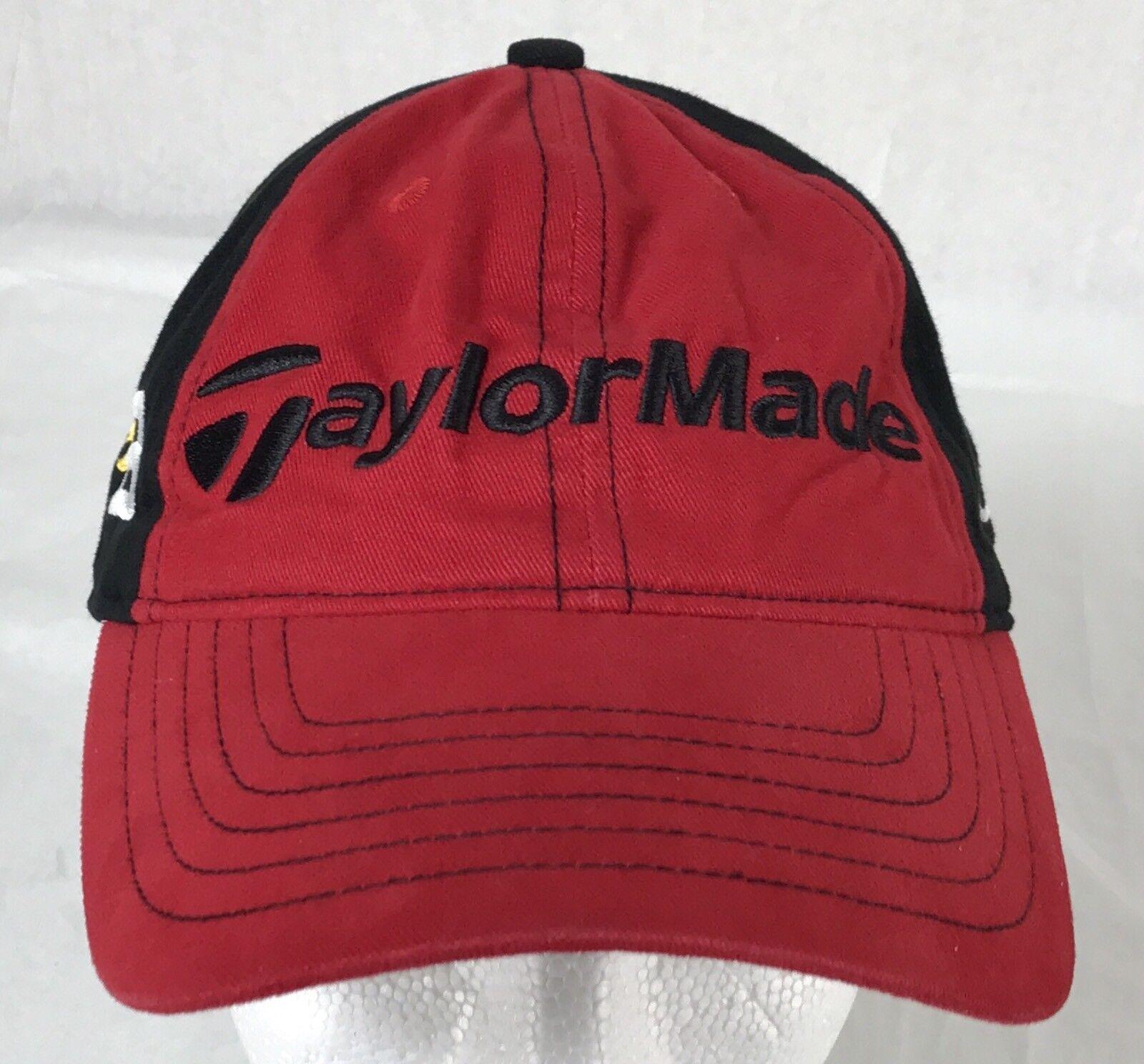 buy online ba87d 65300 ... denmark taylor made burner baseball cap hat bill strap back curved bill  hat red black cotton