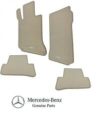 Mercedes W204 Set of 4 Front and Rear Cashmere Tan Carpeted Floor Mats Genuine