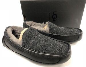 0fb38bfd23d Details about UGG Australia Ascot Novelty Men's Slippers Black 1017298 slip  on shoes
