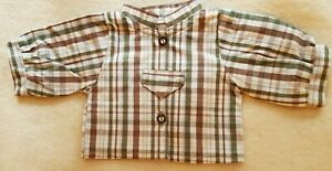 Plaid-Shirt-For-14-3-16-15-11-16in-Bears-Incredible-Great-Handarbeit