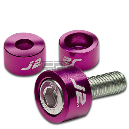 J2 JDM EXHAUST HEADER MANIFOLD METRIC CUP WASHER+BOLT//NUT KIT DC2//AP1//AP2 PURPLE