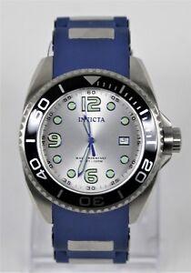 Invicta-Pro-Diver-Model-10616-45-MM-Blue-Buckle-Band-Great-Condition-Needs-Batt