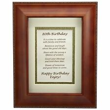 80th Birthday Party Toast in 5 x 7 Wood Frame - 80th Birthday Gift