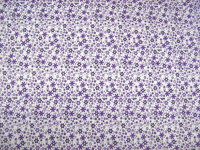 Meadow Lilac Flowers Polycotton Prints Craft / Dress Fabric FREE P+P