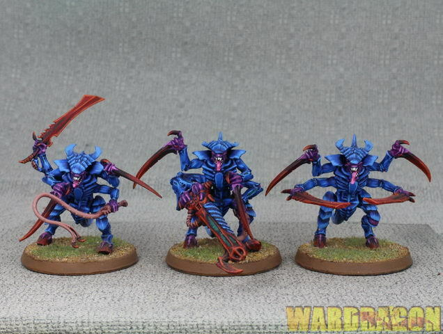 25mm Warhammer 40K WDS painted Tyranid Warriors c18