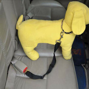 Dog-Car-Seat-Harness-Safety-Harness-Adjustable-Retractable-Safety-Solid-Black