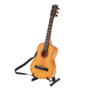 1//6 Wood Guitar Model Miniature Musical Instrument for 12inch Action Figures