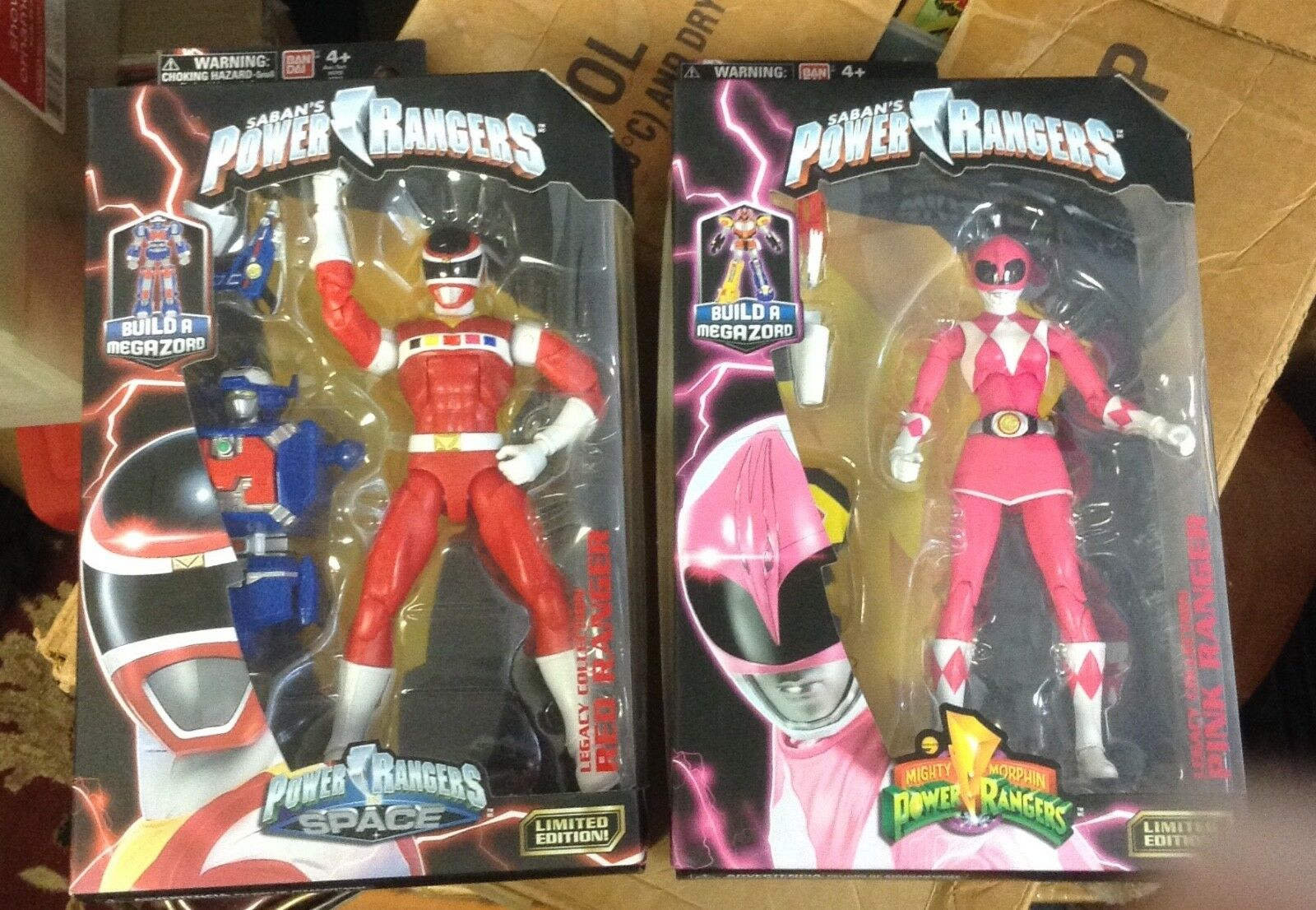 Power Rangers Space Legacy ROT and Rosa Ranger Lot of 2 Figures New and Sealed