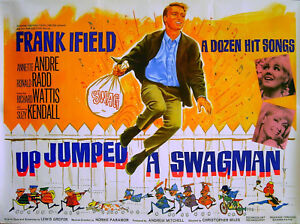 UP-JUMPED-A-SWAGMAN-1965-Frank-Ifield-Annette-Andre-Suzy-Kendall-UK-QUAD-POSTER