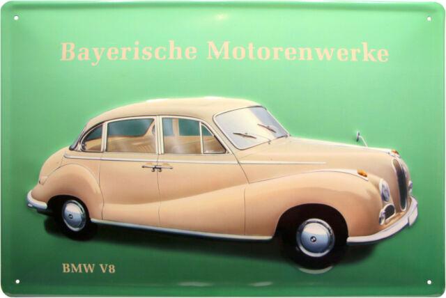 Bavarian Engine Plants BMW V8 Tin Sign Embossed 20 x 30 CM