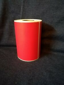 Details about 4x3 Red Direct Thermal Color Labels, Roll of 250