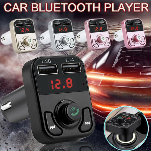 Bluetooth Car FM Transmitter Wireless Radio Adapter USB Charger Mp3 Player TF