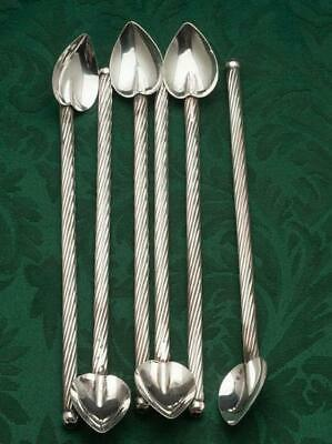 Antique-Cast STERLING-APOSTLE Thomas DEMITASSE SPOONS-Rat tail-Twisted Handles!