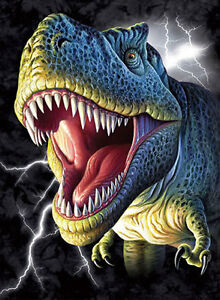 Image Is Loading Dinosaur Lenticular 3D Picture Animal Poster Painting Home
