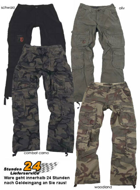 WOW! VINTAGE Cargo Trouser AIR ONE Hose 4 Farben XS-XXL