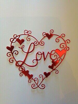 Aprensivo 5 X Grande Color Rojo Corazones Amor Tarjeta Toppers, Die Cut, Boda, Cumpleaños, Aniversarios-ay, Anniversary Es-es