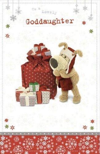 Boofle à une charmante Filleule Carte de Noël Nouveau Cadeau