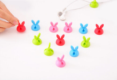 Lots of Cable Clip Desk Tidy Wire Drop Lead USB Charger Cord Holder Secure Table