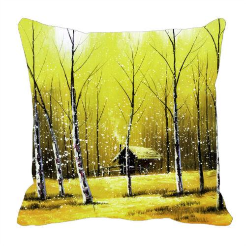 """24/"""" pouces Arbre Forestier Imprimé Housse de Coussin Canapé Maison Décor Pillow Case 12/"""""""