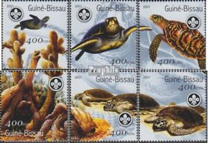 Never Hinged 2001 Turtles Fashionable Patterns Stamps Fashion Style Guinea-bissau 1584-1589 Unmounted Mint Guinea-bissau