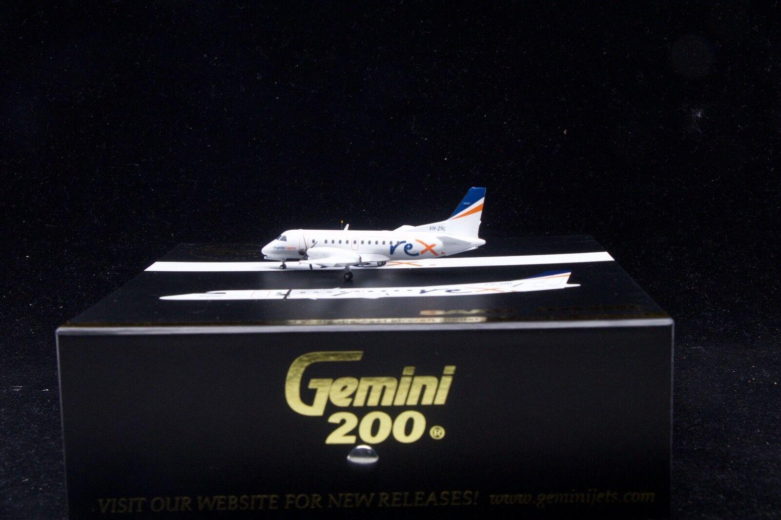 Gemini jets 1   200 rex saab sf340 vh-zrl