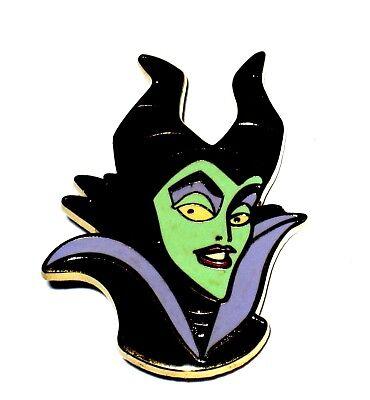 Retired Le Disney Pin Villain Maleficent Evil Sleeping Beauty Nemesis Face Head Ebay