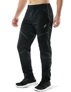 TSLA Men's Thermal Cycling Pants, Fleece Lined Bike Pants, Winter Running Pants
