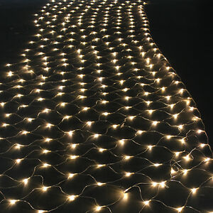 300 LED Net Mesh Fairy String Lights For Christmas Xmas Wedding Party Outdoor
