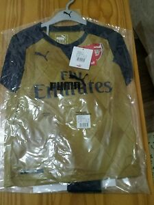 d4085c02a Authentic Puma Arsenal away gold football kit for boys 5-6 years ...