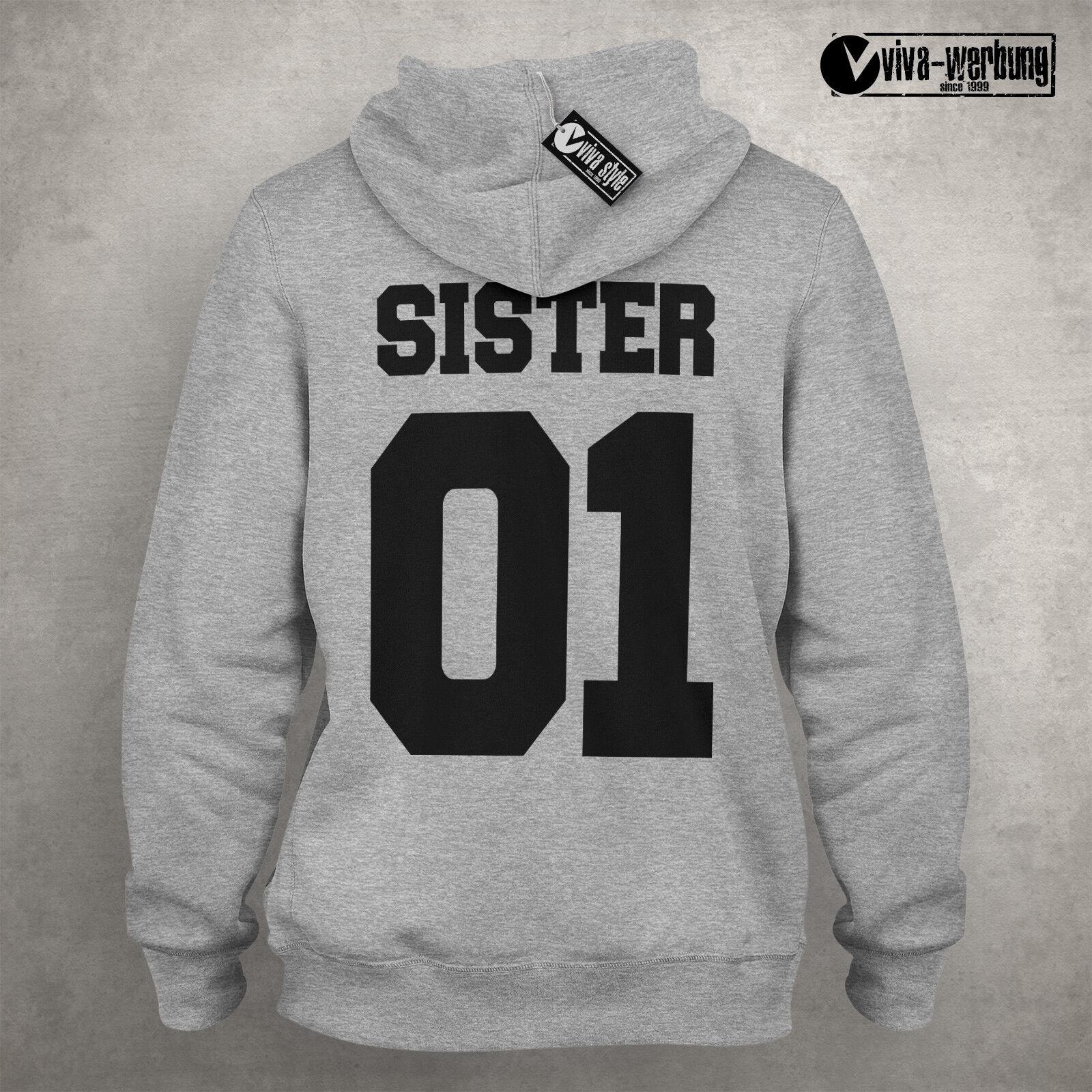 Sister 01 01 01 Pulli Deluxe Best Friends Beste Freundin Hoodie Pulli Geschenk Sweat G | Ruf zuerst  97ee6c
