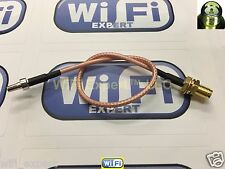 8 inch RP-SMA Female to CRC9 Male Pigtail Coaxial RF CRC-9 Cable RG316 USA