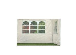2 seitenteile mit fenster f r pavillon partyzelt 3x3 pavillion garten zelt wei ebay. Black Bedroom Furniture Sets. Home Design Ideas