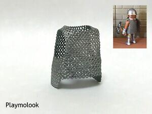 COTA-DE-MALLA-GRIS-METAL-CABALLERO-IMPRESIoN-3D-RESINA-FIGURA-PLAYMOBIL-NO-INCL
