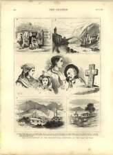 1875 Insurrection In Herzegovina, Sketches Agram, Mostar, Konjika, Peasants