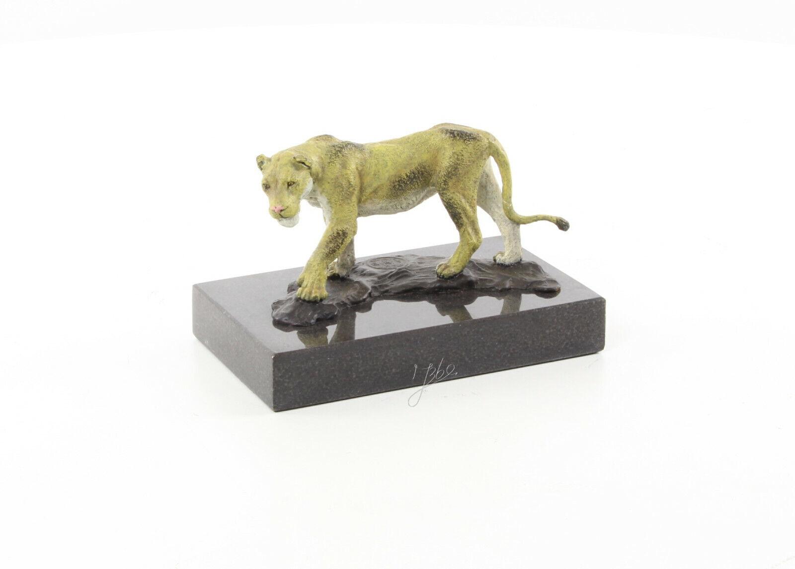 9973487-dss Bronze Skulptur Figur Löwin 8x8x13cm