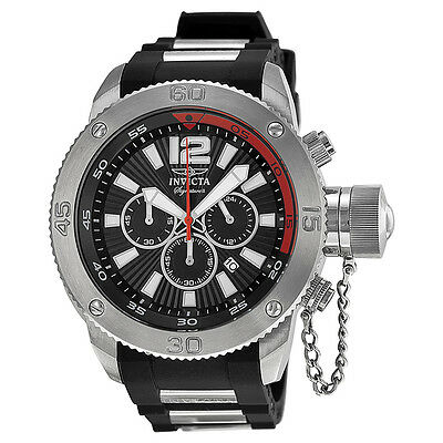 Invicta Signature II Russian Diver Black Dial Chronograph Mens Watch 7422