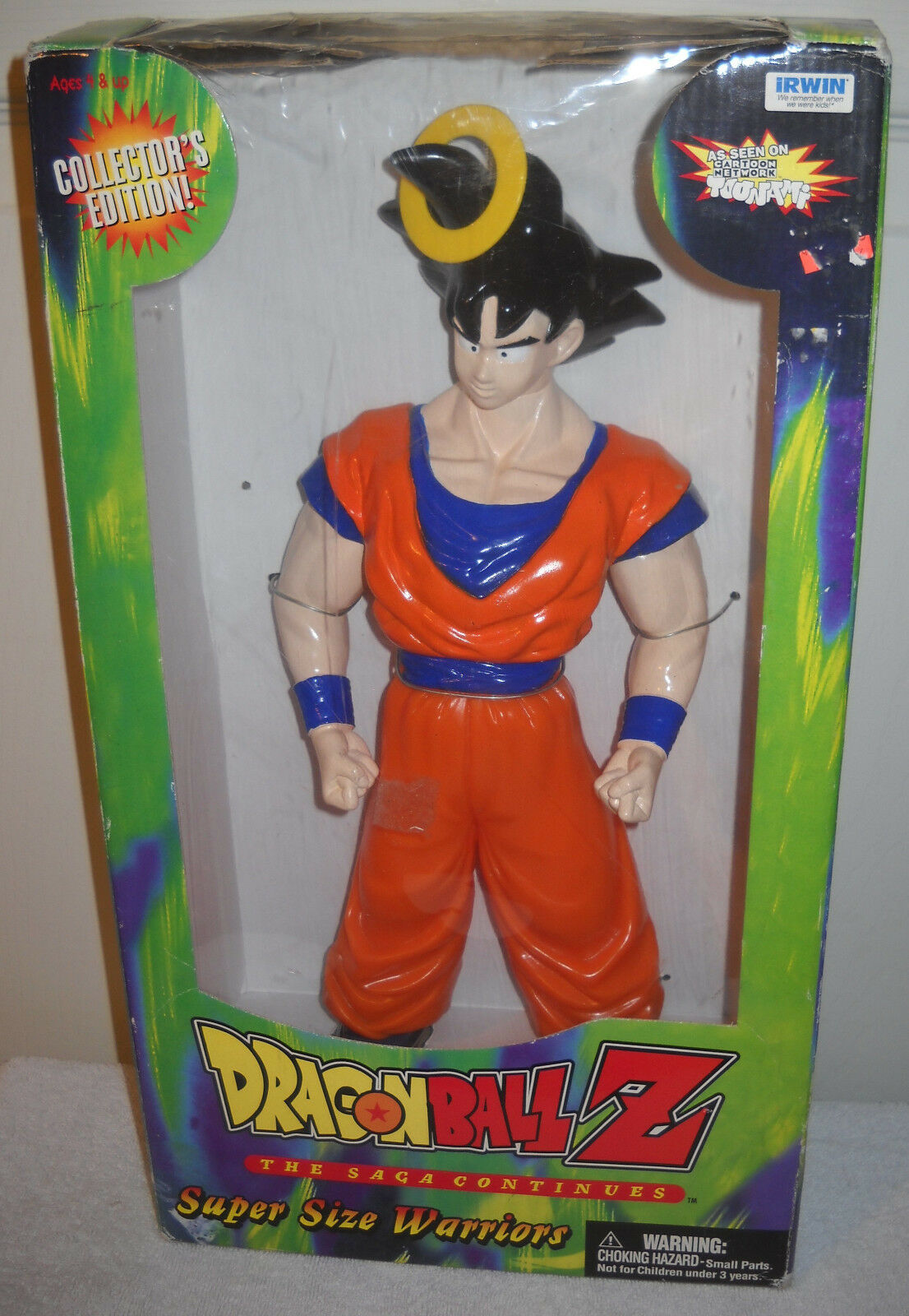 7126 NRFB Irwin Collectors Edition Dragonball Z Goku Super Größe Warrior Figure