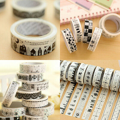 1pcs 1.5*10M DIY Paper Sticky Adhesive Sticker Decorative Scrapbooking Tape