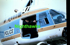 POLICE WITH GUN SHOOTING IN HELICOPTER ORIGINAL 35MM TRANSPARENCY 2X2 SLIDE