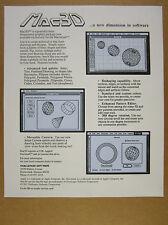 1985 challenger software Mac3D 3D Apple Macintosh screenshots vintage print Ad
