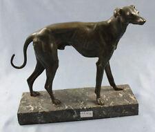 Windhund  hund figur hundefigur greyhound whippet bronze figur antik