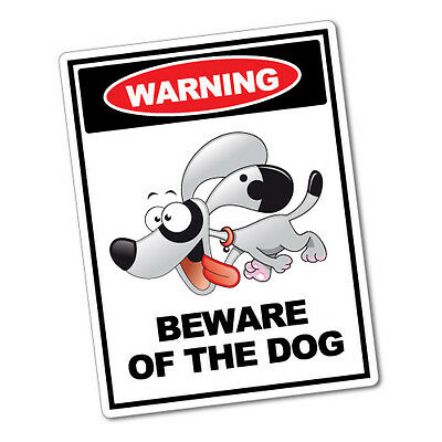 Warning beware of the dog sticker funny car stickers novelty decals 5470k