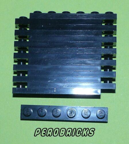 Lego Basic Technik Technic 15 Platten 1x6 #3666 schwarz