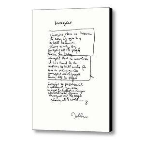 ad66693d7e0c Framed John Lennon facsimile hand written Imagine Signed .