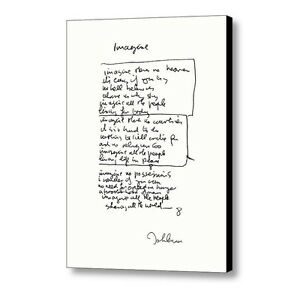 db179a949ebf Framed John Lennon facsimile hand written Imagine Signed .