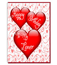 Item 3 Love Heart Card For WIFE HUSBAND BOYFRIEND GIRLFRIEND Happy Birthday To My Lover