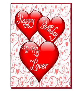 Détails Sur Love Coeur Carte Pour Femme Mari Copain Copine Joyeux Anniversaire à Mon Amant Afficher Le Titre Dorigine