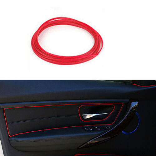 5M Red Line Car Van Interior Decor Point Edge Gap Door Panel Accessories Molding